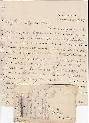 1897 Chemawa Indian School Oregon Handritten Letter, Native Teacher
