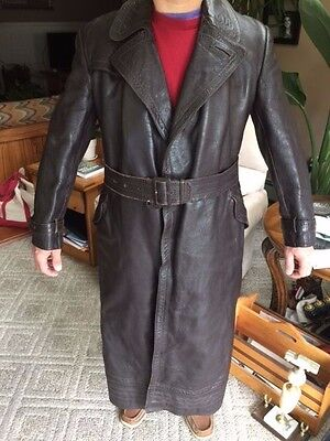 WW2 GERMAN original officers Leather LUFTWAFFE Great coat