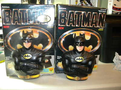 Batman The Movie 1990 Ralston Purina Lot of 2 Full Unsused Cereal Boxes W/Banks