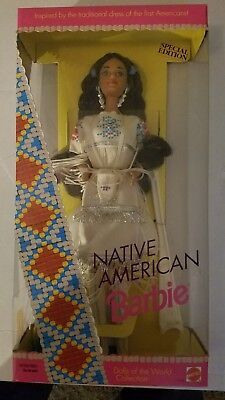 1992 Native American Barbie 1st Edition Dolls of the World Collection