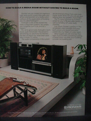 1982 Pioneer Home Entertainment Media Room Vintage Print Ad 12820