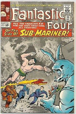 FANTASTIC FOUR # 33   Beautiful Silver Age - FN6.5 to FN/VF7.0