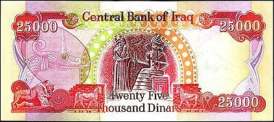 25,000 Iraqi Dinar w 116 day option (5/14/18) reserve cert for 10,000,000 more.