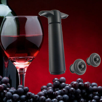 4.9inch Wine Bottle Sealer Vacuum Wine Pump With 2 Stoppers Sealing Preserver