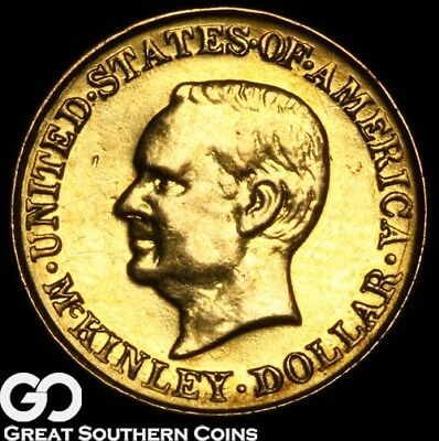 1917 Gold Dollar, $1 McKinley Commemorative Gold ** Free Shipping!
