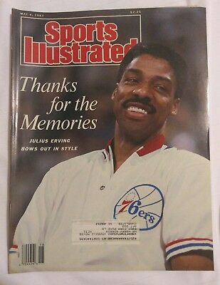 Sports Illustrated Magazine May 4, 1987 76ers Julius Erving NBA