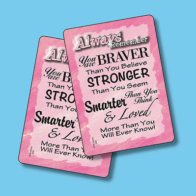 """Always Remember You Are Braver Than"" - 2 Inspirational Verse Cards - sku# 630"