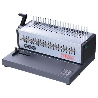 Electric 1-21 Hole 400 Sheet Paper Comb Binding Machine Punch Binder Puncher