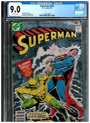 Superman 323 Cgc 9.0 Blue First Appearance Of Atomic Skull