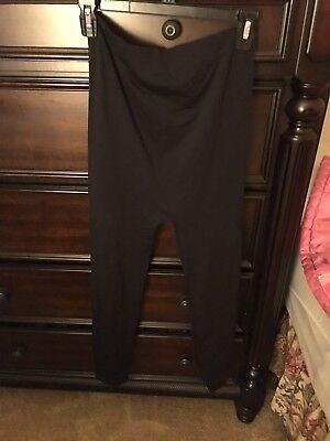 Be Maternity Women's Black footless Tights Size L/XL