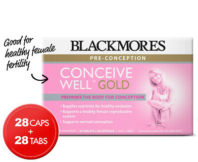 Blackmores Conceive Well Gold 28 Caps + 28 Tabs