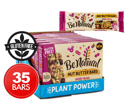 7 x Be Natural Nut Butter Berry Bliss Bars 135g