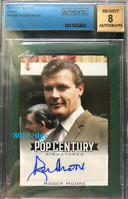 "2017 Pop Century Auto: Roger Moore #1/1 Autograph""James Bond"" Nscc Exclusive Bas"