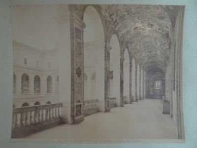 Rom Palazzo del Laterano Cortile Fontana Fresken Vedut Ansicht Photographie 1890