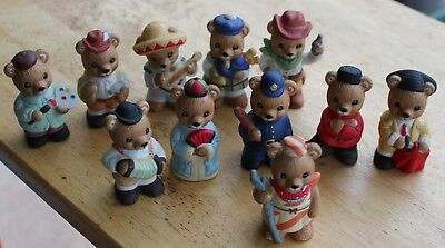 "Homco ""Around the World Bears""; #1408 (11 bears)"