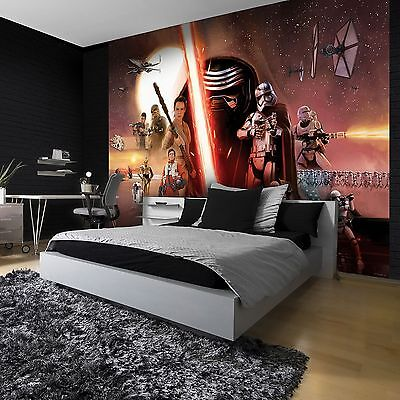 STAR WARS WALLPAPER WALL MURAL 254 x 184cm FORCE AWAKENS EPISODE VII