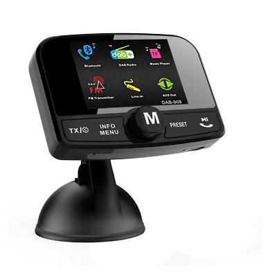 "Auto DAB +Digital Radio mit Bluetooth FM Transmitter Radio  2.4 ""TFT Farbdisplay"