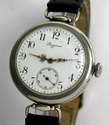 Earle swiss LONGINES Cal.14.26 Military Officer's wristwatch Armbanduhr ca.1916