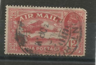 One Penny Sale A Nice India 1929 12a Air Used Issue