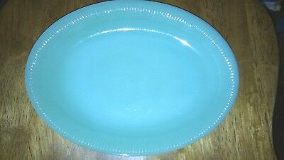 Old  Oven Glass Jane Ray Jadeite Green 9 x 12 Oval Plate Platter Jadite