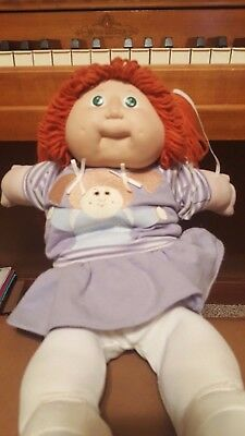 Cabbage Patch Kids Red Hair Vintage Green Eyes Shoes Clothing Pig Tails