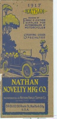 1917 Catalog of Leather & Fabric Supplies for Automobile and Motorcycle