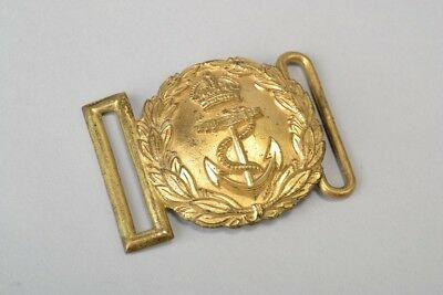 Royal Navy Officers' WW1 Era Full Dress Ceremonial Belt Buckle / Plate. Ref EHK