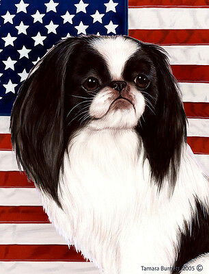 Garden Indoor/Outdoor Patriotic II Flag - Japanese Chin 321331