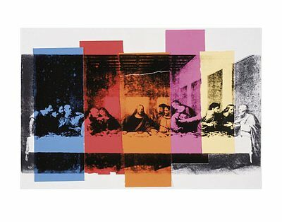 Detail of The Last Supper, 1986 by Andy Warhol Art Print Religious Poster 11x14