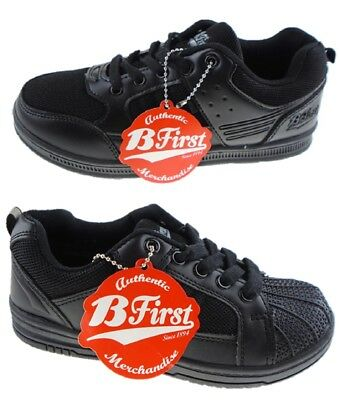 Boys Black Back to School Shoes Trainers Formal Casual Lace Sizes UK 11 to UK 7