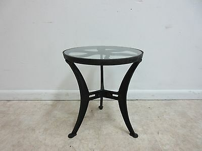 Vintage Industrial Reclaimed Cast Iron Pulley Wheel End Table Pedestal B