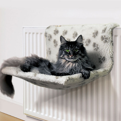 Cat Kitten Pet Warm Soft Fleece Comfy Radiator Lounger Cradle Hammock Basket Bed