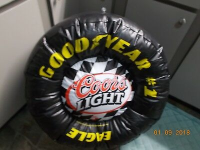 """Advertising Inflatable Goodyear Eagle Slick Tire Coors/Light  27"""" Dia, 12"""" W"""