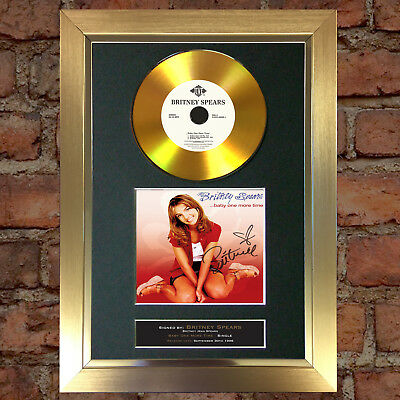 GOLD DISC BRITNEY SPEARS One More Time Signed Autograph Mounted Repro A4 #139