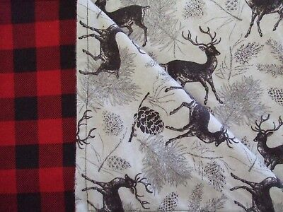 Red/black Buffalo plaid baby infant toddler flannel swaddle 41x32 crib blanket