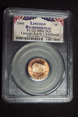 2009-P Lincoln Early Childhood Bicentennial Cent PCGS MS67RD First Day of Issue