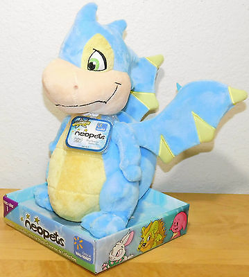 Jumbo Blue Scorchio Neopets Walmart Exclusive Plush Unused Code NEW