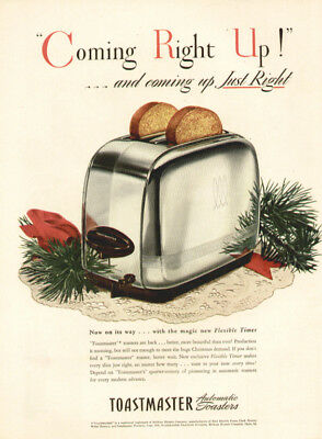 Vintage 1945 AD Print Toastmaster Automatic Toasters for Xmas From S.E.Post