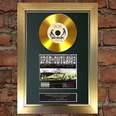 GOLD DISC 2PAC Still i Rise Album Cd Signed Autograph Mounted Repro A4 #144