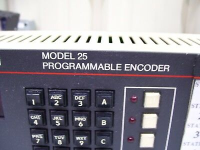 Zetron Programmable Encoder Model 25 901-9019 W/ Power Supply Tested