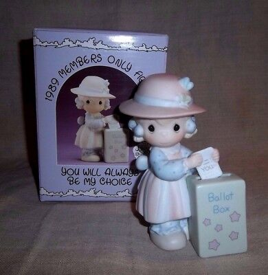 """1989 Members Only Precious Moments """" You Will Always Be My Choice """" Figurine"""