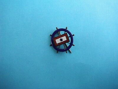 WWII home front son in service pin with enamel ships wheel