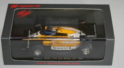 "Spark Renault RE50 Derek Warwick ""2nd British GP 1984"" in 1/43 OVP"