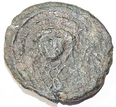 LOT#514 Tiberius II, Constantine, 578-582 AD Ancient Byzantine coin.