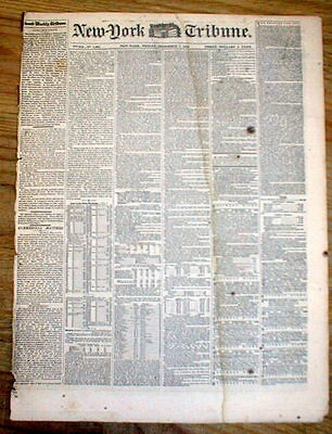 1847 newspaper PRESIDENT JAMES KNOX POLK State of the Union Address MEXICAN WAR