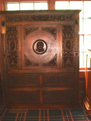 Antique Hand Carved Wall Hanging Mint Condition Part of an Old Back Bar