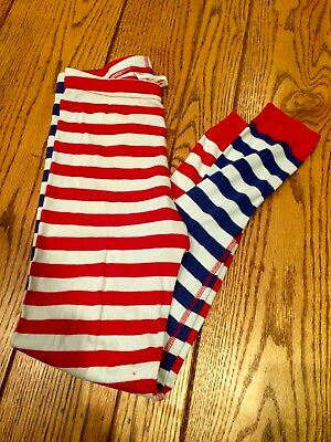 Hanna Andersson Red White Blue Striped Long Sleeve Pajama Bottoms Pants 140 10
