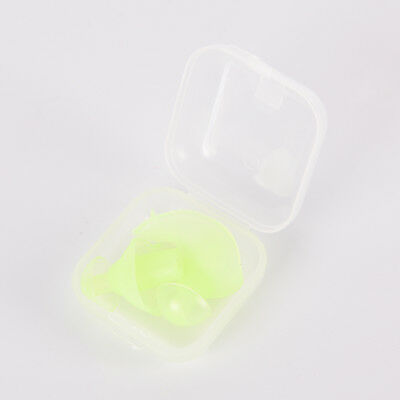 Green Silicone Adult Anti-Noise Soft Silicone Swimming Waterproof Ear plug TO