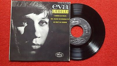 "7"" Ep Eva - Liebelei! 1964! French Pop, Chanson! Rar!"