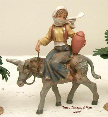 "Fontanini Depose Italy 4""- 5"" Hartshorn Gypsy On Donkey Nativity Village Figure"